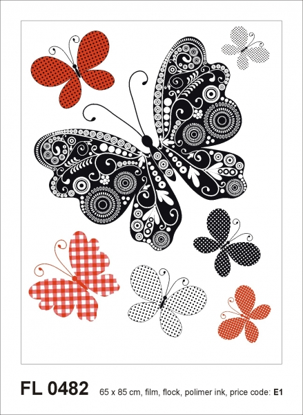 Sticker decorativ FL0482 Fluturi